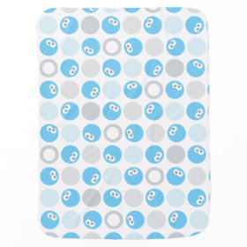 Baby Cookie Monster Circle Pattern Receiving Blankets