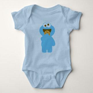 Baby Cookie Monster Eating Baby Bodysuit