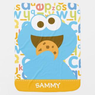 Baby Cookie Monster Eating Stroller Blanket