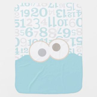 Baby Cookie Monster Face Swaddle Blanket