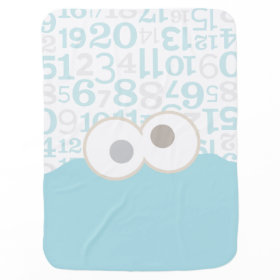 Baby Cookie Monster Face Swaddle Blankets