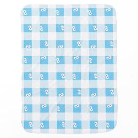 Baby Cookie Monster Plaid Pattern Receiving Blankets