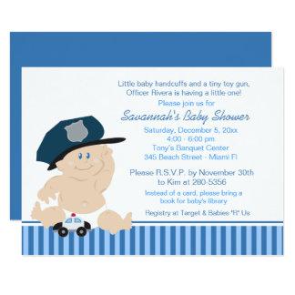 Boys police baby shower invitations announcements zazzle baby cop police officer baby shower invitation filmwisefo