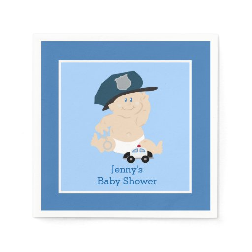 Baby Cop Police Officer Custom Napkin