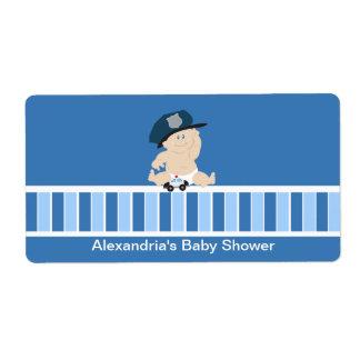 Baby Cop Police Officer Water bottle sticker Label