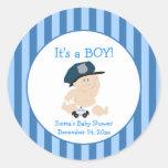 Baby Cop Police (Stripe) Custom Favor Sticker