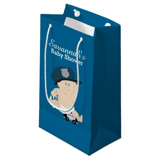 Baby Cop Policeman Baby Shower Gift Bag