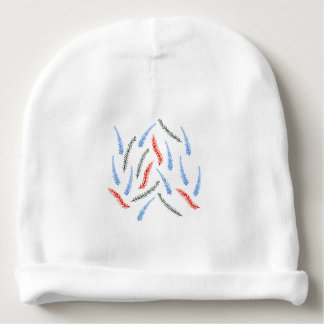 Baby cotton beanie with watercolor branches
