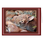 Baby Cottontails-any occasion-customize Cards