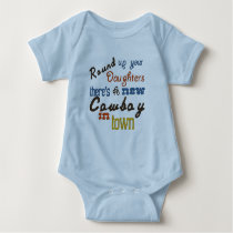 Baby country boy baby bodysuit