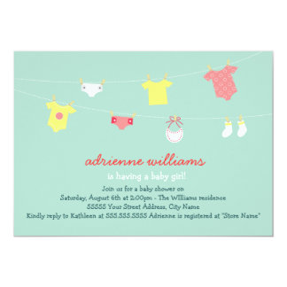 "Baby Couture Baby Shower Invite 5"" X 7"" Invitation Card"