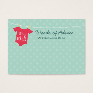 Baby Couture Mommy Advice Cards