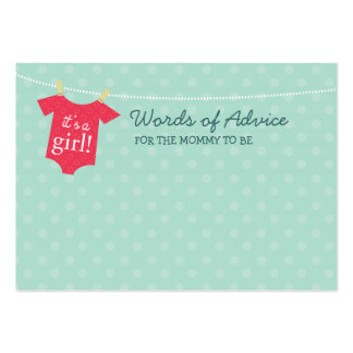 Baby Couture Mommy Advice Cards Large Business Card