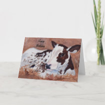 Baby Cow Birthday Card