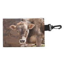Baby Cow - Brown Baby Calf Close Up Face Accessory Bag