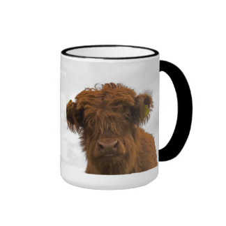 Baby cow coffee cup