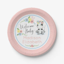 Baby Cow Floral Calf Welcome Baby Shower Party Paper Plate