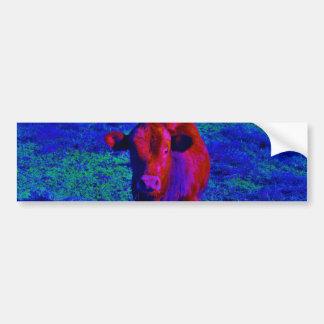 Baby Cow Purple grass Bumper Sticker