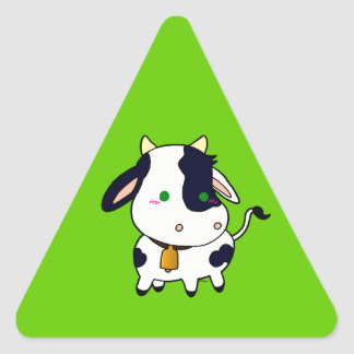 Baby Cow Triangle Sticker