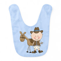 Baby Cowboy/horse Pitter Patter Bib
