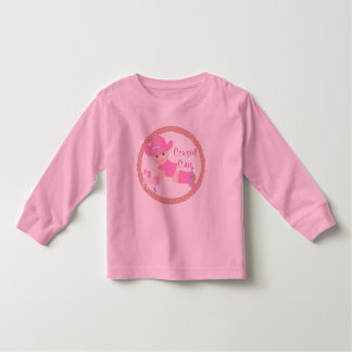 Baby Cowgirl Pink Hat Boots and Horse Toddler T-shirt