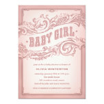 "Baby Cowgirl Shower Invitations 5"" X 7"" Invitation Card"