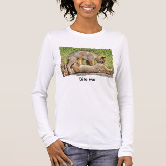 Baby Coyote Brothers Fighting Long Sleeve T-Shirt