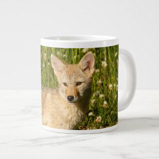 baby coyote giant coffee mug