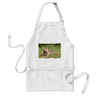 Baby Coyote Yawning Aprons
