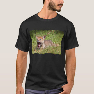 Baby Coyote Yawning T-Shirt