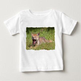 Baby Coyote Yawning T Shirt