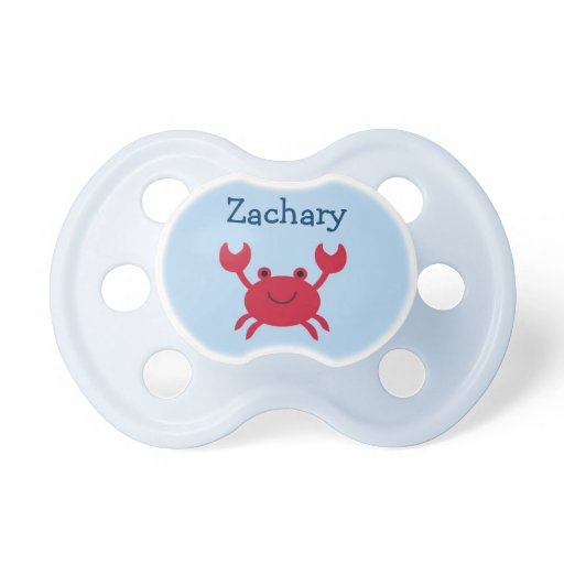 Baby Crab Personalized Pacifier