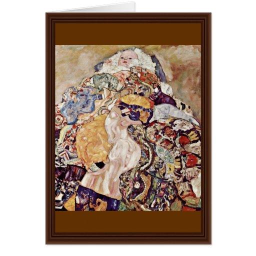 Baby Cradle By Klimt Gustav Greeting Card