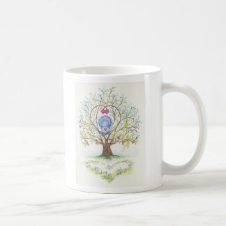 Baby Cradle in A Tree of Hearts and Love Mugs
