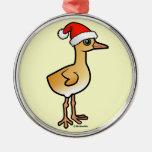Baby Crane Santa Christmas Ornament
