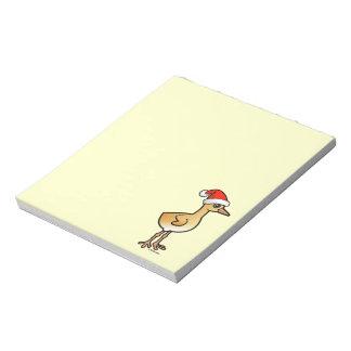 Baby Crane Santa Note Pad