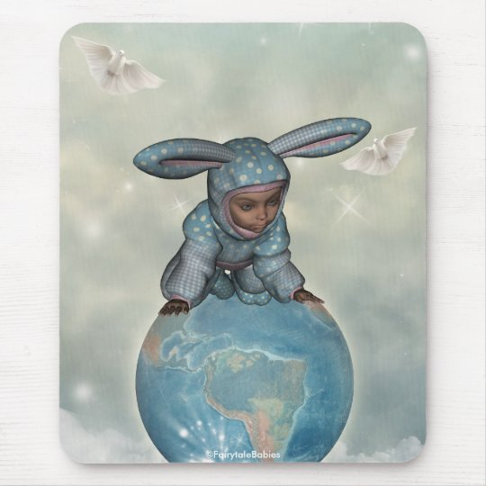 Baby crawl bunnies save the earth 1 mouse pad