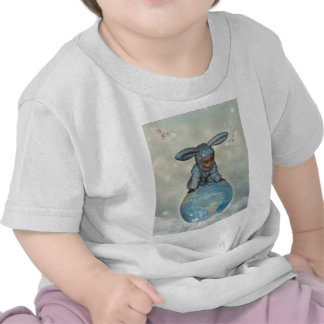 Baby crawl bunnies save the earth 1 shirts
