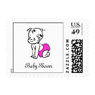 baby-crawling-clip-art, Baby Showe... - Customized Postage