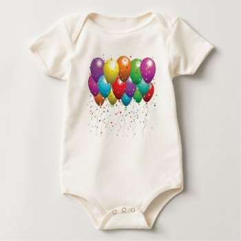 Baby Creeper  Beige   Balloons  Image by creativeconceptss at Zazzle