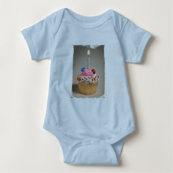 Baby Creeper  Beige  Cupcake Image by CREATIVEforKIDS at Zazzle