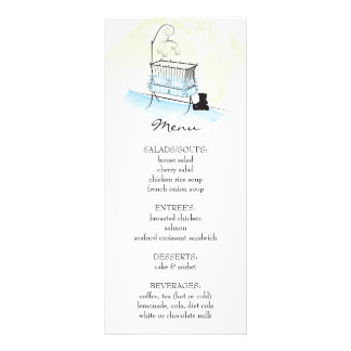 baby shower menu rack cards templates full color baby shower menu