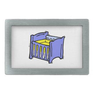 Baby crib blue graphic yellow mattress belt buckle