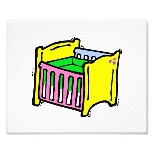 baby crib colorful graphic photo art