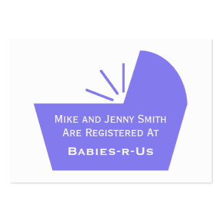 Baby Crib Icon Large Business Card