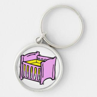 baby crib pink themed graphic yellow mattress keychain