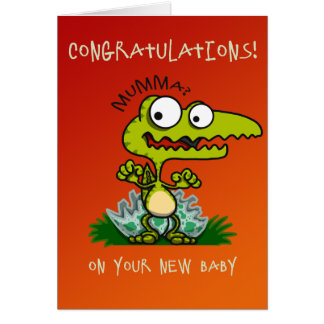 Baby Croc New Baby Card