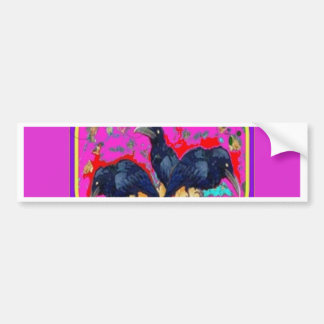 Baby Crows Whimsy purple by Sharles Bumper Sticker
