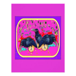 Baby Crows Whimsy purple by Sharles Letterhead Template