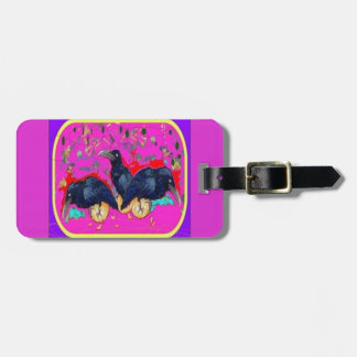 Baby Crows Whimsy purple by Sharles Travel Bag Tag